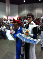 AX day 1 yugi and kaiba by DrGengar