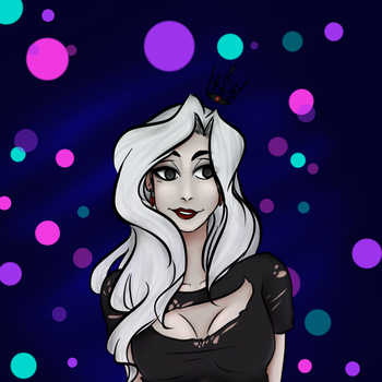 Ghost Queen Grim by stoopidcrow