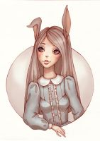 Cute Hare by Ninelyn