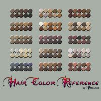 Hair color reference by vectortutorial
