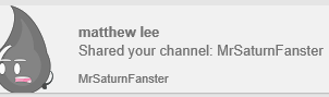 Person who shared my YT channel by domobfdi