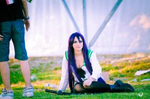 me as saeko busujima by Binilol-Cosplay