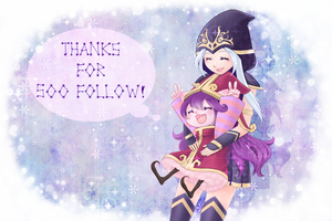 Thanks for 500 follow! ( in Pixiv ) by Refel-Salala