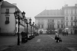 Cracow's ambience of streets by Maxikq
