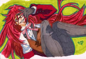 Kuroshitsuji: Grell Sutcliff Happy B-Day Matt ^W^ by SMLtheGRartist