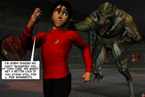 WE LOST ANOTHER REDSHIRT by lordcoyote