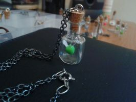 Faerie in a Bottle Necklace - Green by Nagathia1