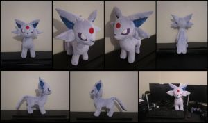 Espeon Pokemon Plush by Miss-Zeldette