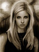 Buffy Sketch:. by IsaiahStephens