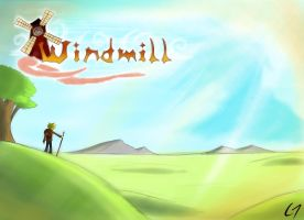 Windmill Poster 2 by Tamashi-Bjorn