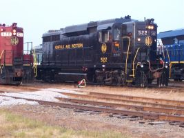 Norfolk and Western #522 by elr79655