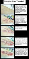Sharpie Gore tutorial by flesh-eatingmuffin