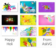 Holi Wallpapers Pack by Vishal-Gupta