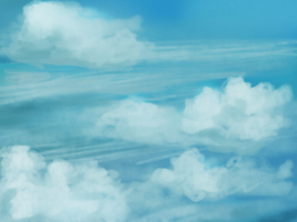 In the clouds, background work by Hardtwon