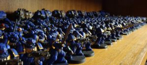 My Ultramarines army by DeathShadowSun