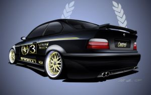 Bmw e36 M3 Widebody Rear by dazza-mate