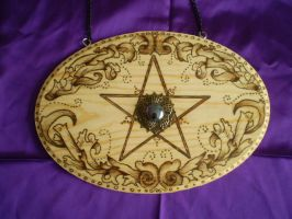 Pentagram Wall hanging by Ravens-nest-witchery