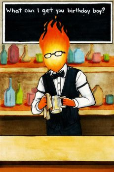 Grillby by Fred-Weasley