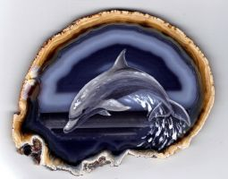 Dolphin on Agate 2 by Nevuela
