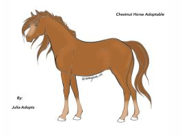Chestnut Horse Adoptable by Julia-adopts