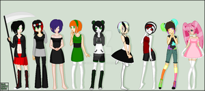 Human Oc's by Kanean