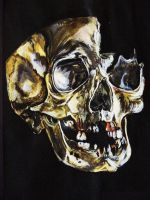 Skull Painting by NadineSabbagh