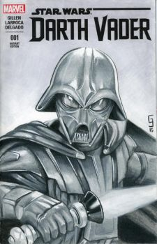 Concept Art Darth Vader Sketch Cover by Geekincognito