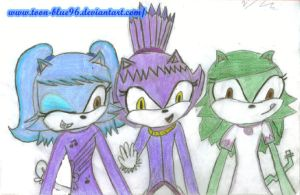 Montse, Blaze y Tere The Cat by ToOn-Blue96