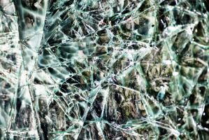 Cracked Glass Texture Stock by jojo22