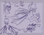Commission : Silver fang sketch page by chibithepony