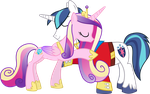 Princess Cadance and Shining Armour Hugging by 90Sigma