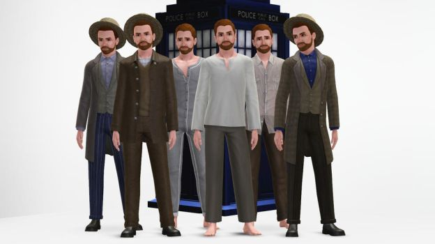 The Sims 3 - Doctor Who - Vincent van Gogh by exangel42