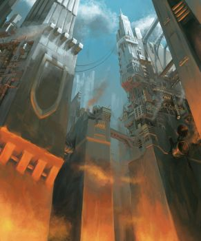 Doom city (with painting video) by Lantletevo