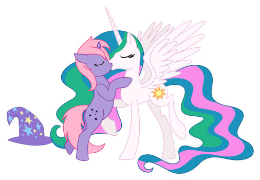 Celly and Midnight by cloudwatcherpony