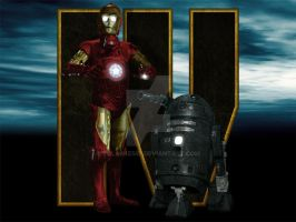 Iron 3PO And WAR2 D2 by tclarke597
