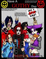 Have A Gothy Day Comic Cover by TheMonkeyYOUWant