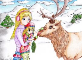 Christmas Reindeer~ Holiday Card Project 2014 by Shell19