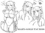 Model Sheet: Mary-Gold Tauros by N8Dogg5k