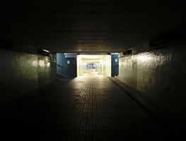 Underpass to train to heaven :-) by Gyrxiur
