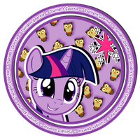 Twilight Sparkle sweet button by KennyKlent
