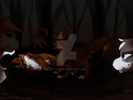 He will lie in the dark forest forever by Nitteh