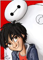 Hiro and Baymax by Josabella