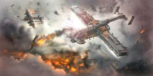 Aerial Warfare concept sketch by BoxofLizards