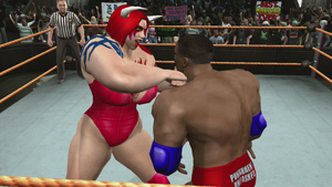 Red Monster Lady punches Justin Holloway  part 2 by fzero64