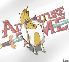 Cake- Adventure Time by LarraLy