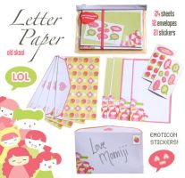 Momiji Letter Paper by ChocolatePixel
