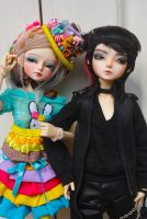 Miss Rainbow Meets Mister Grumpyface by MarieAngelcakes