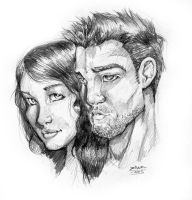 lazaro y chica by thenota