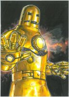 The Golden Avenger- Iron Man by Hognatius