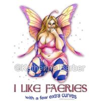 Curvy Faerie TShirt Design by kitttykat